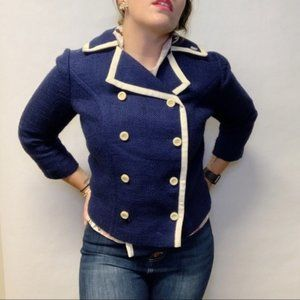 FINAL SALE VTG Mod 60s Double Breasted Crop Jacket